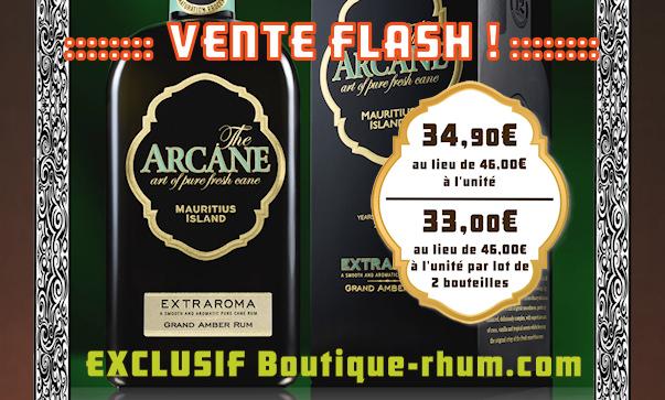 Vente flash sur Boutique rhum : Le rhum Arcane Extraroma