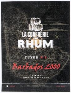 etiquette-cuvé n°1-rhum-barbados-2000
