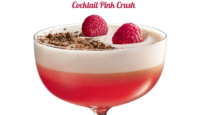 Recette cocktail à base de rhum : Pink crush