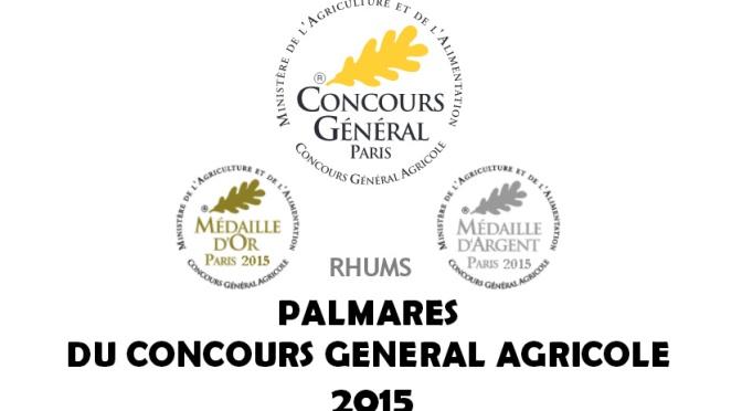Palmarès des meilleurs rhums au CGA Paris 2015