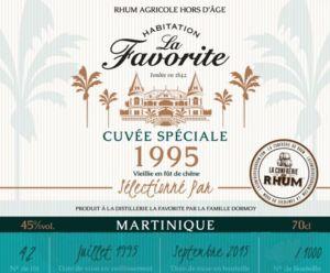 étiquette cuvée spéciale 1995 La Favorite