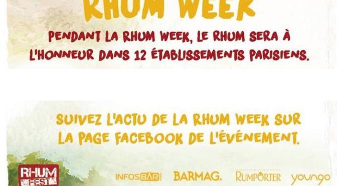 La Rhum week précède le Rhum Fest Paris 2016