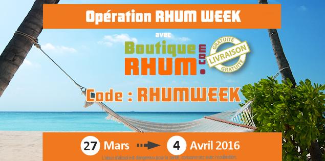 C'est la «RHUM WEEK» sur Boutique-Rhum.com