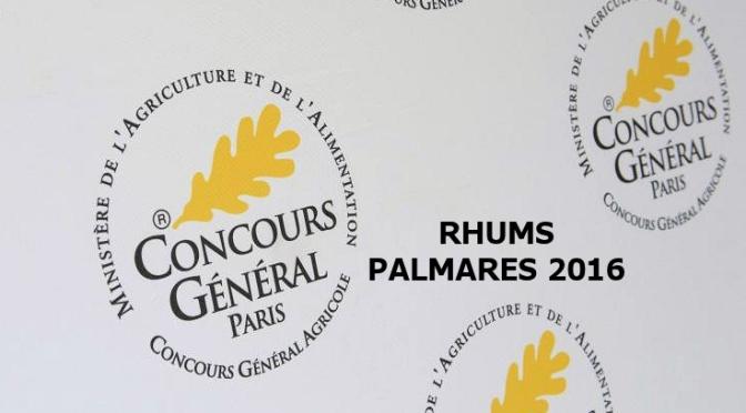 Rhums le palmares 2016 CGA