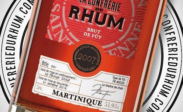 Un nouveau brut de fût HSE sélectionné par la Confrérie du Rhum