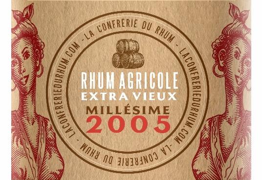 La Mauny millésime 2005 cuvée de la Confrérie du Rhum