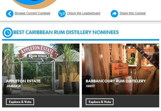 Votez pour la meilleure distillerie de rhum des Caraïbes